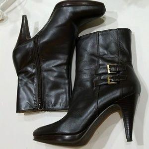Dark brown ankle boots